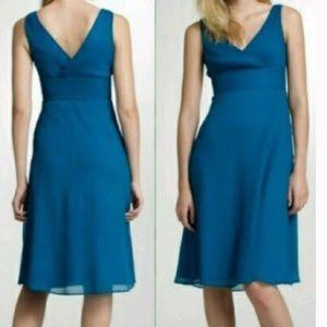 J Crew Matisse Blue sophia SILK dress CHIFFON 8